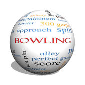 Bowling 3D sphere Word Cloud Concept — Stock Photo