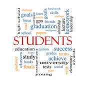 Students Word Cloud Concept — Stock Photo