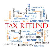 Tax Refund Word Cloud Concept — Stock Photo
