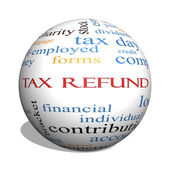 Tax Refund 3D sphere Word Cloud Concept — Stock Photo