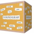 Stock Photo: Entrepreneurship 3D cube Corkboard Word Concept