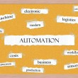 Stock Photo: Automation Corkboard Word Concept
