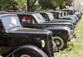 Row of Vintage Sedans — Stock Photo