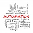 Stock Photo: Automation Word Cloud Concept in red caps