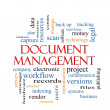 Stock Photo: Document Management Word Cloud Concept