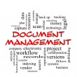 Stock Photo: Document Management Word Cloud Concept in red caps