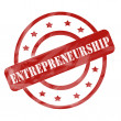 Stock Photo: Red Weathered Entrepreneurship Stamp Circles and Stars