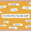 Stock Photo: Entrepreneurship Corkboard Word Concept