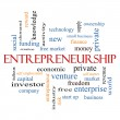 Stock Photo: Entrepreneurship Word Cloud Concept