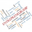 Stock Photo: Entrepreneurship Word Cloud Concept Angled