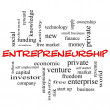 Stock Photo: Entrepreneurship Word Cloud Concept in red caps