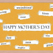 Happy Mother's Day Corkboard Word Concept — Stock Photo