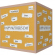 Happy Mother's Day 3D cube Corkboard Word Concept — Stock Photo #42186241