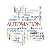 Automation Word Cloud Concept — Stock Photo