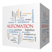 Automation 3D cube Word Cloud Concept — Stock Photo