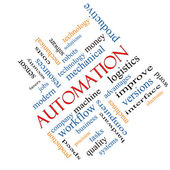 Automation Word Cloud Concept Angled — Stock Photo