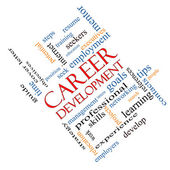 Career Development Word Cloud Concept Angled — Stock Photo
