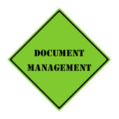 Document Mangement Sign — Stock Photo