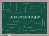 Entrepreneurship Word Cloud Concept on a Blackboard — Stock Photo