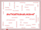 Entrepreneurship Word Cloud Concept on a Whiteboard — Stock Photo