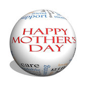 Happy Mother's Day 3D sphere Word Cloud Concept — Fotografia Stock