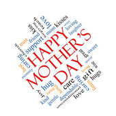 Happy Mother's Day Word Cloud Concept Angled — Stock Photo