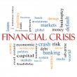 Financial Crisis Word Cloud Concept — Stock Photo #42232501