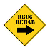 Drug Rehab that way Sign — Stockfoto