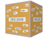 Drug rehab 3d-kubus prikbord woord concept — Stockfoto