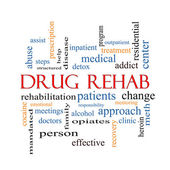 Drug Rehab Word Cloud Concept — Stock Photo