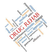 Drug Rehab Word Cloud Concept Angled — Stock Photo