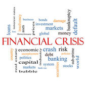 Financial Crisis Word Cloud Concept — Stock Photo