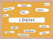 Cinema Corkboard Word Concept — Stock Photo