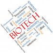 Stock Photo: Biotech Word Cloud Concept Angled