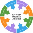 Stock Photo: Business Process Lifecycle Word Circle Concept
