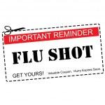 Flu Shot Reminder Coupon Concept — Stock Photo #42378805