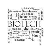 Biotech Word Cloud Concept in black and white — Stock Photo