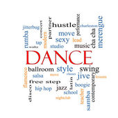 Dance Word Cloud Concept — Stock Photo