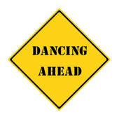 Tanzen vor zeichen — Stockfoto