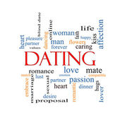 Dating Word Cloud Concept — Stock Photo