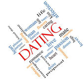 Dating Word Cloud Concept Angled — Stock Photo