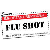 Flu Shot Reminder Coupon Concept — Stock Photo
