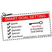 Smart Goals Setting Coupon Concept — Stock Photo