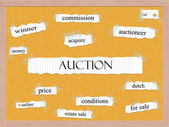 Auction Corkboard Word Concept — Stock Photo
