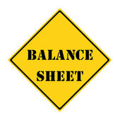 Balance Sheet Sign — Stock Photo