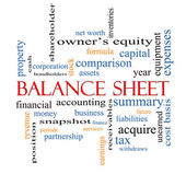 Balance Sheet Word Cloud Concept — 图库照片