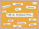 Viral Marketing Corkboard Word Concept — Stock Photo