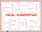 Viral Marketing Word Cloud Concept on a Whiteboard — Stock Photo