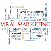 Viral Marketing Word Cloud Concept — Stock Photo