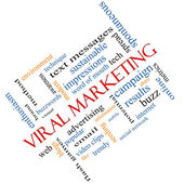 Viral Marketing Word Cloud Concept Angled — Stock Photo